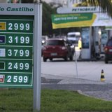 The prices of gasoline, ethanol and diesel fuel are shown at a gas station at Copacabana Beach in Rio de Janeiro November 29, 2013.REUTERS/R