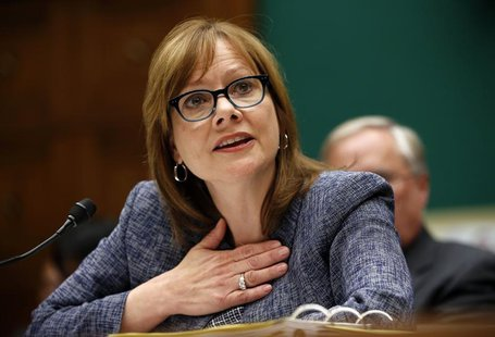 GM Chief Executive Officer Mary Barra testifies during a House Energy and Commerce hearing on Capitol Hill in Washington April 1, 2014. REUT