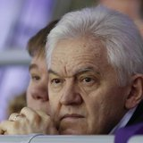 Russian businessman Gennady Timchenko attends the men's qualification ice hockey game between Russia and Norway at the Sochi 2014 Winter Oly