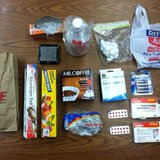 Meth components seized from car in Lawrence on Friday.  (picture provided by the Van Buren County Sherriffs Department)