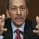 Representative Mel Watt testifies before the Senate Banking, Housing and Urban Affairs Committee confirmation hearing to be the regulator of