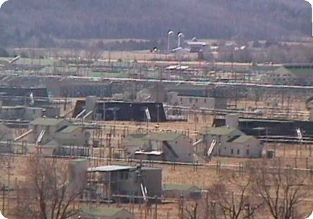 General View of Badger Army Ammunition Plant near Baraboo, Wisconsin. (Photo from: Wikimedia Commons/US Government General Services Administration).