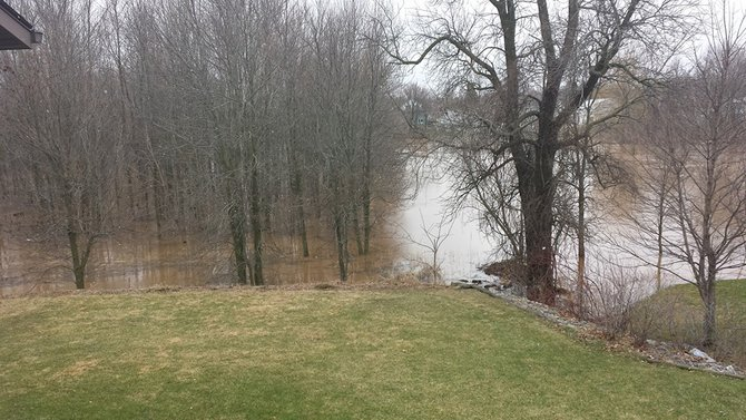 Backyard in Howards Grove by the river.