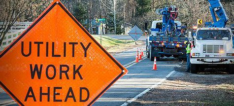 Slow down for work crews. (photo provided by Consumers Energy)