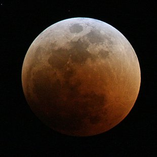 The last lunar eclipse in June of 2011(courtesy of Wikipedia)