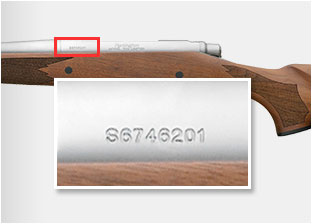 Remington Recall, where to find serial number