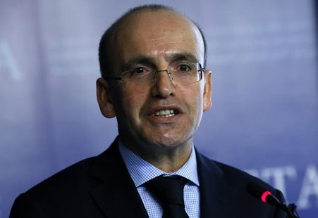 Turkey's Finance Minister Mehmet Simsek speaks during a meeting in Ankara January 30, 2014. REUTERS/Umit Bektas
