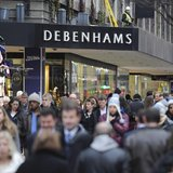 People walk past Debenhams department store on Oxford Street, in central London, January 10th 2011. REUTERS/Ki Price
