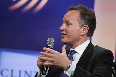 Antony Jenkins, group chief executive of Barclays PLC, speaks during the Clinton Global Initiative (CGI) in New York September 26, 2013. REU