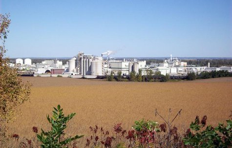 Cargill Inc's corn milling complex, which turns more than 100 million bushels of corn every year in food, feed, fuels and an increasing arra