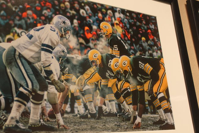 Never before displayed photos from a National Georgraphic photographer at the Ice Bowl