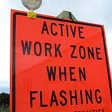 work zone safety sign