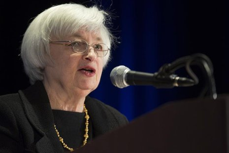 United States Federal Reserve Chair Janet Yellen speaks at the 2014 National Interagency Community Reinvestment Conference in Chicago, March
