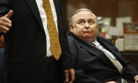 Robert Rizzo, the former manager of scandal-plagued Bell, California, attends his sentencing at Los Angeles Superior Court April 16, 2014. R