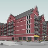 Artist's rendition of the proposed Courtyard by Marriott hotel in Holland (courtesy Holland Planning Commission)