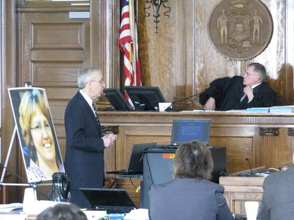 Prosecutor Richard Dufour presents closing arguments to jury in Mark Bucki trial 4/15/14.