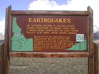 Idaho earthquakes