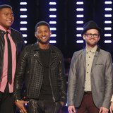 Image courtesy of (l-r) T.J. Wilkins, Usher, Josh Kaufman, Bria Kelly; Trae Patton/NBC (via ABC News Radio)