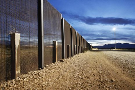 The Arizona-Mexico border fence near Naco, Arizona, March 29, 2013. REUTERS/Samantha Sais
