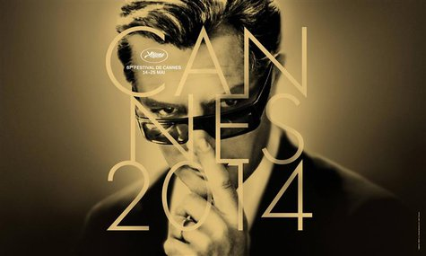 The official poster for the 67th Cannes Film Festival featuring actor Marcello Mastroianni is seen in this April 15, 2014 handout photo. REU