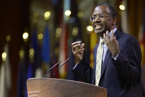 Columnist, retired neurosurgeon and potential presidential candidate Ben Carson speaks at the Conservative Political Action Conference (CPAC