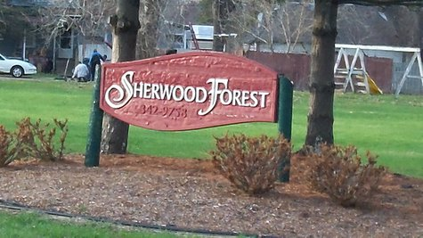 Sherwood Forest is located just to the east of the Kalamazoo County Fairgrounds in the Lakewood neighborhood.