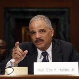 U.S. Attorney General Eric Holder testifies about his FY2015 budget request at a Senate Appropriations Committee hearing on Capitol Hill in