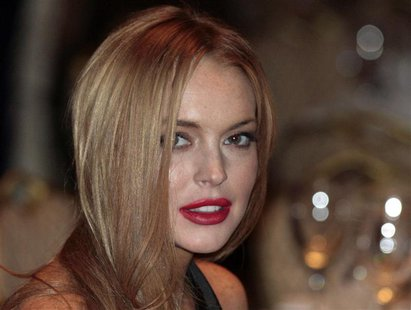 Actress Lindsay Lohan attends the White House Correspondents' Association annual dinner in Washington in this April 28, 2012 file photo. REU