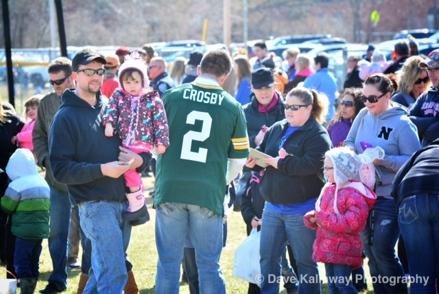 "Mason Crosby and other Packers ""surprised"" fans at a Merrill Easter Egg Hunt prior to a tour stop..."