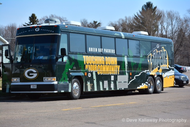 From April 15th through the 19th, the Packers 9th annual Tailgate Tour hit Escanaba and Ironwood, Michigan, as well as Superior, Rice Lake, and Merrill, Wisconsin