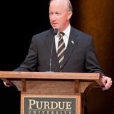 Purdue President and former Indiana Governor Mitch Daniels