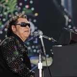 American country music singer Ronnie Milsap performs during the Country Music Association (CMA) Music Festival in Nashville, Tennessee June