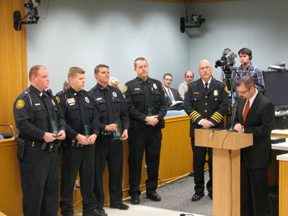 Award of Valor given to four Stevens Point Police Department officers
