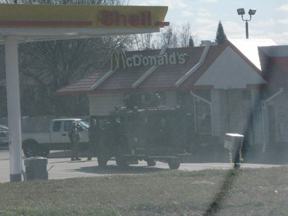 SWAT team on scene of Wittenberg hostage incident 4/22/14   Photo: WSAU