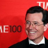 Comedian Stephen Colbert arrives to be honored at the Time 100 Gala in New York, April 24, 2012. REUTERS/Lucas Jackson