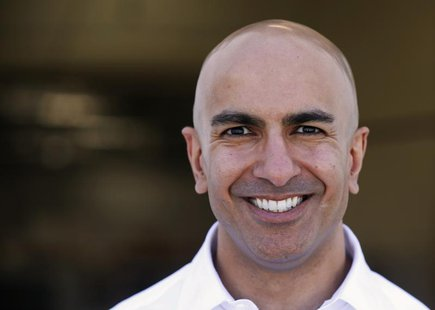 California Republican gubernatorial candidate Neel Kashkari poses for a photo after touring the Robinson Helicopter Co. in Torrance, Califor