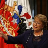 Chile's President Michelle Bachelet answers a question during a news conference at the La Moneda Presidential Palace in Santiago, March 12,