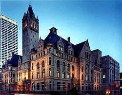 Federal Building and Courthouse in Milwaukee, Wisconsin.