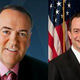 Mike Huckabee left  Reince Priebus right