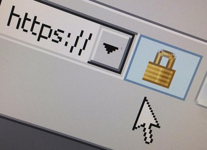 A lock icon, signifying an encrypted Internet connection, is seen on an Internet Explorer browser in a photo illustration in Paris April 15,