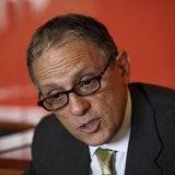President of the U.S. Export-Import Bank Fred Hochberg speaks during an interview with Reuters in Nigeria's capital Abuja October 19, 2011.
