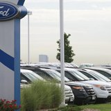 Cars are lined up for sale at a Ford dealer in Lakewood, Colorado September 4, 2013. REUTERS/Rick Wilking
