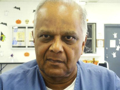 Krishna Maharaj sits for an interview in Miami Dade county jail in Miami, Florida, October 15, 2012. REUTERS/David Adams