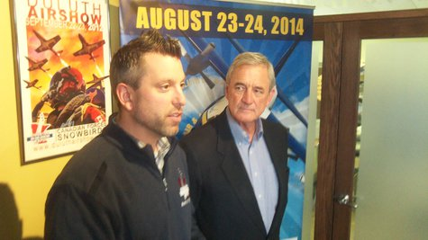 Event promoter Ryan Kern with 8th District Congressman Rick Nolan