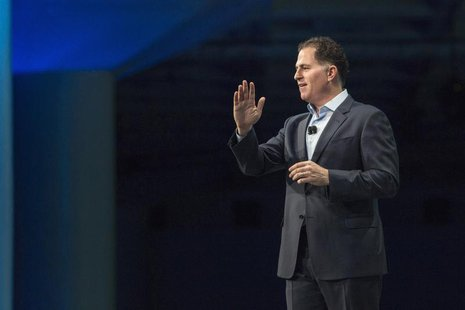 Michael Dell, chief executive of Dell Inc, delivers his keynote speech at the All Things Oracle OpenWorld Summit in San Francisco, Californi
