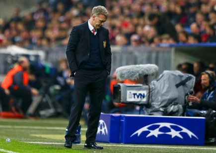 Manchester United's manager David Moyes reacts after their Champions League quarter-final second leg soccer match against Bayern Munich in M