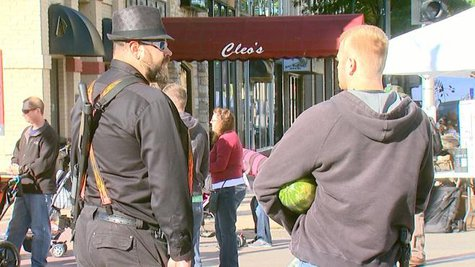 Open carry supporters (Photo from: FOX 11).