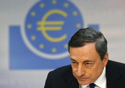 European Central Bank (ECB) President Mario Draghi pauses during the monthly ECB news conference in Frankfurt April 3, 2014. REUTERS/Ralph O