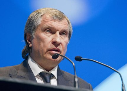 Rosneft President and Chairman of the Managing Board Igor Sechin speaks during the IHS CERAWeek energy conference in Houston March 6, 2013.