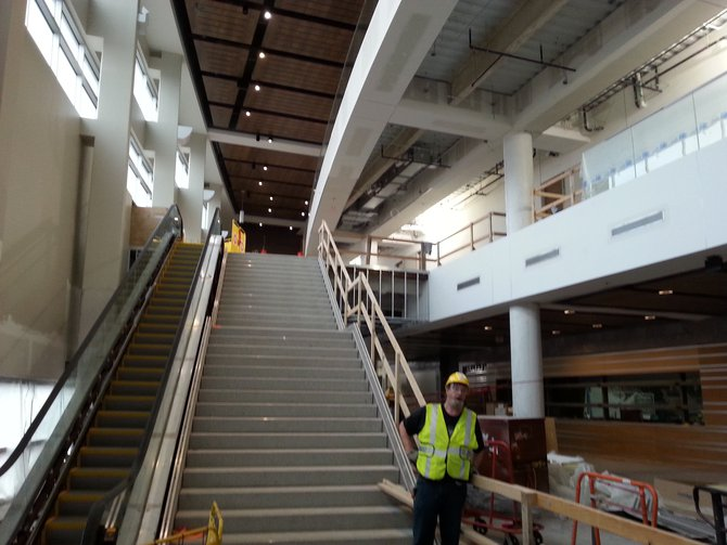 It may not be finished, but the Main Concourse of the Denny Sanford Premier Center is still impressive!